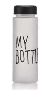 Бутылка матовая My Bottle в чехле 500 ml черная