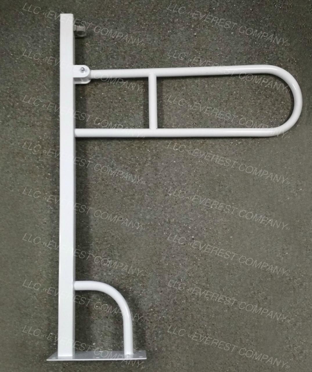 Поручень для инвалидов напольный откидной , Ø 25мм - 1000х700мм