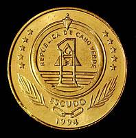 Монета Кабо-Верде 1 эскудо 1994 г. Черепаха