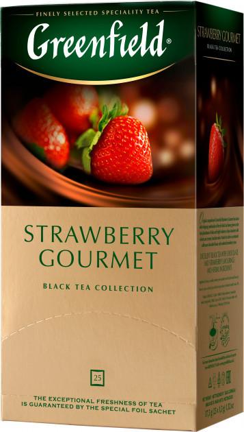 Чай черный с клубникой и шоколадом Greenfield Strawberry Gourmet 25 пак.