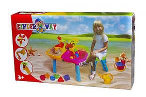 Столик песочный с лодочкой, стульчиком и пасками 01-122 , фото 3