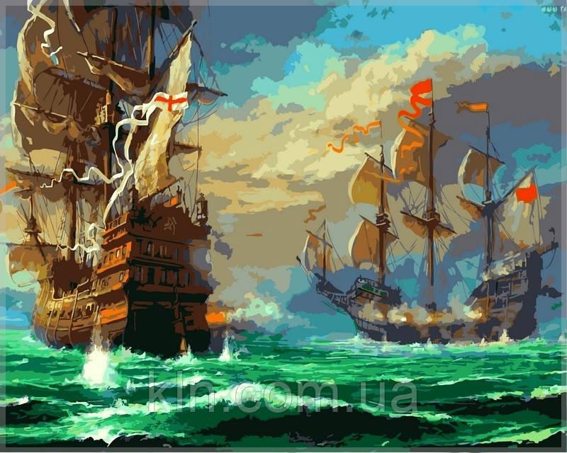 Картина по номерам Babylon Морской бой VP319 40 х 50 см