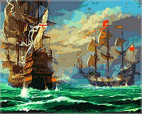 Картина по номерам Babylon Морской бой VP319 40 х 50 см, фото 1