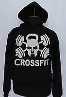 Спортивная толстовка, худи , кенгурушка, реглан с капюшоном и принтом CrossFit