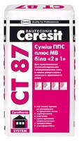 """Клей для теплоизоляции Ceresit СТ87 ППС+МВ белый """"2 в 1"""" 25кг"""