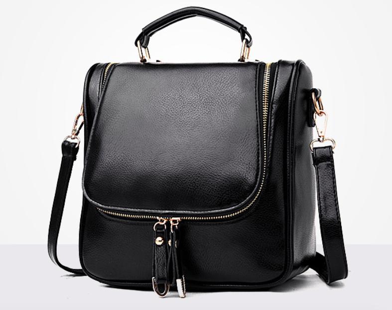 Сумка рюкзак женская трансформер Vintage Черный