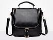 Сумка рюкзак женская трансформер Vintage Черный, фото 2
