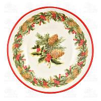Villa Grazia Набор тарелок для супа Зимний букет 22см PASOP22IS-set