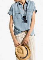 Рубашка джинсовая с короткими рукавами, фото 1