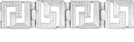 Браслет серебряный Греция 501040