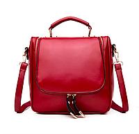 Сумка рюкзак женская трансформер Vintage Красный