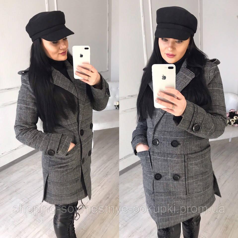 10e62b525d4 Стильное Женское пальто в клетку купить в Украине