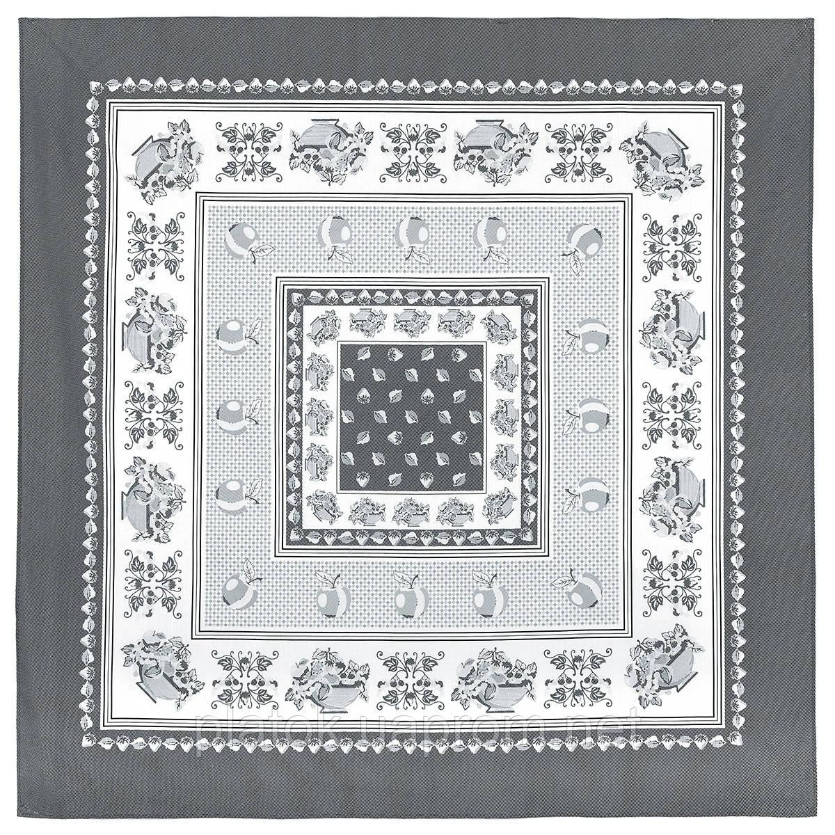 Нектар 720-1, павлопосадская скатерть хлопковая квадратная с подрубкой