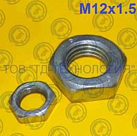 Гайка шестигранная низкая с мелким шагом резьбы ГОСТ 5916, DIN 934/936 М12х1.5