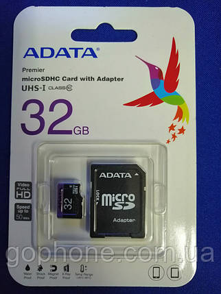 Карта памяти ADATA SDHC 32GB Class 10, фото 2