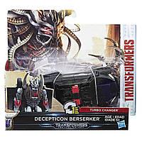 Трансформер десептикон Берсеркер в 1-шаг, 11 cм - Berserker, One step, Turbo Changer, TF5, Hasbro - 138350