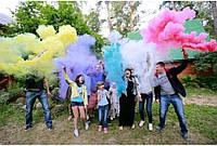 Цветной дым,6-ть цветов, 60 секунд, обычной густоты, набор из 6-ти цветов