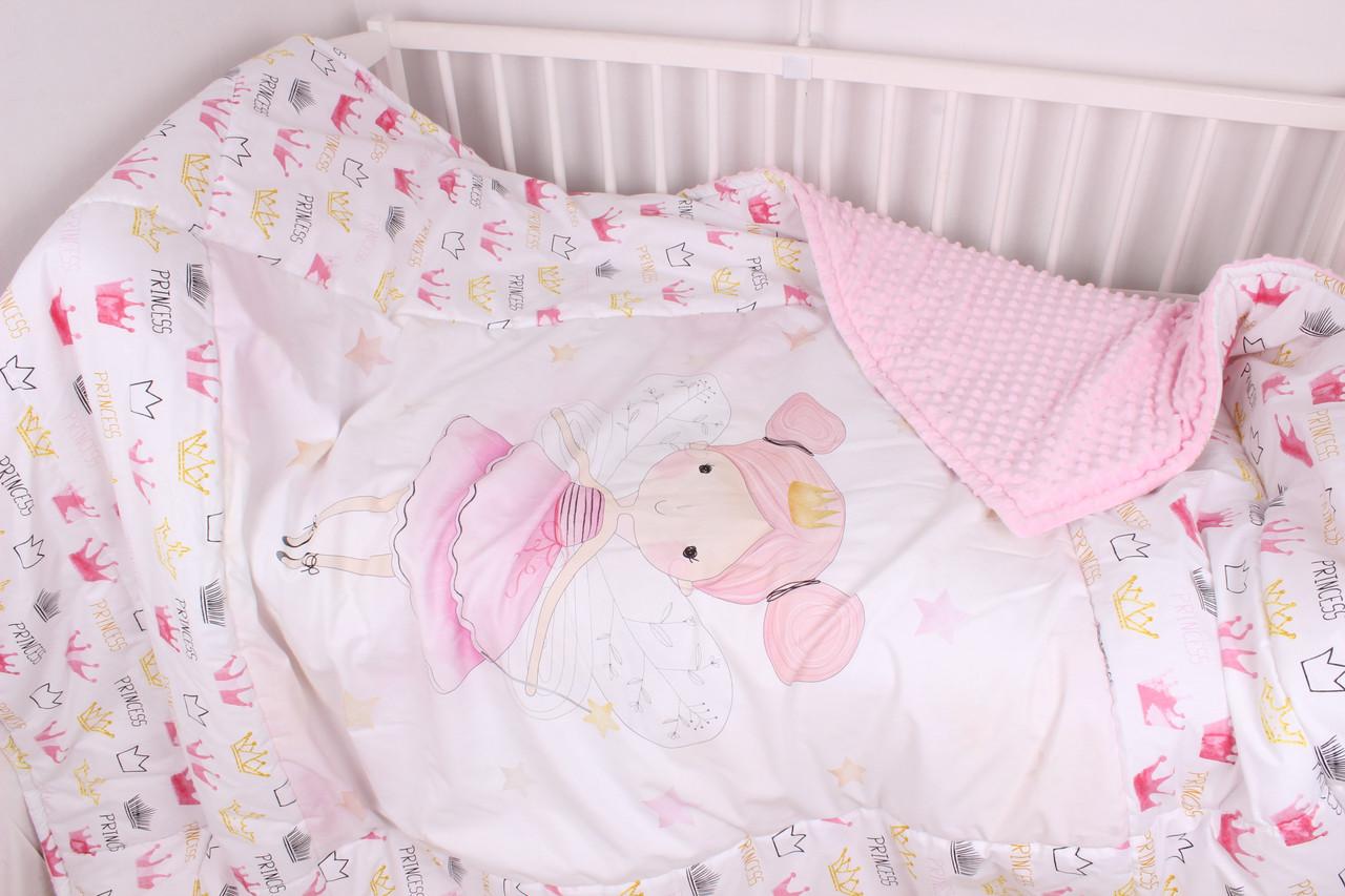 Детское увеличенное  одеяло с панелькой девочкой