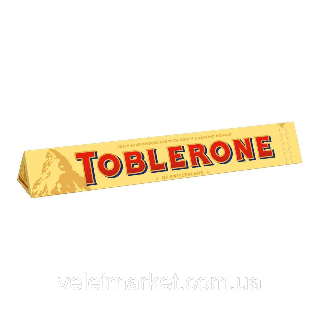 Шоколад Toblerone молочный с медово-миндальной нугой 100 г