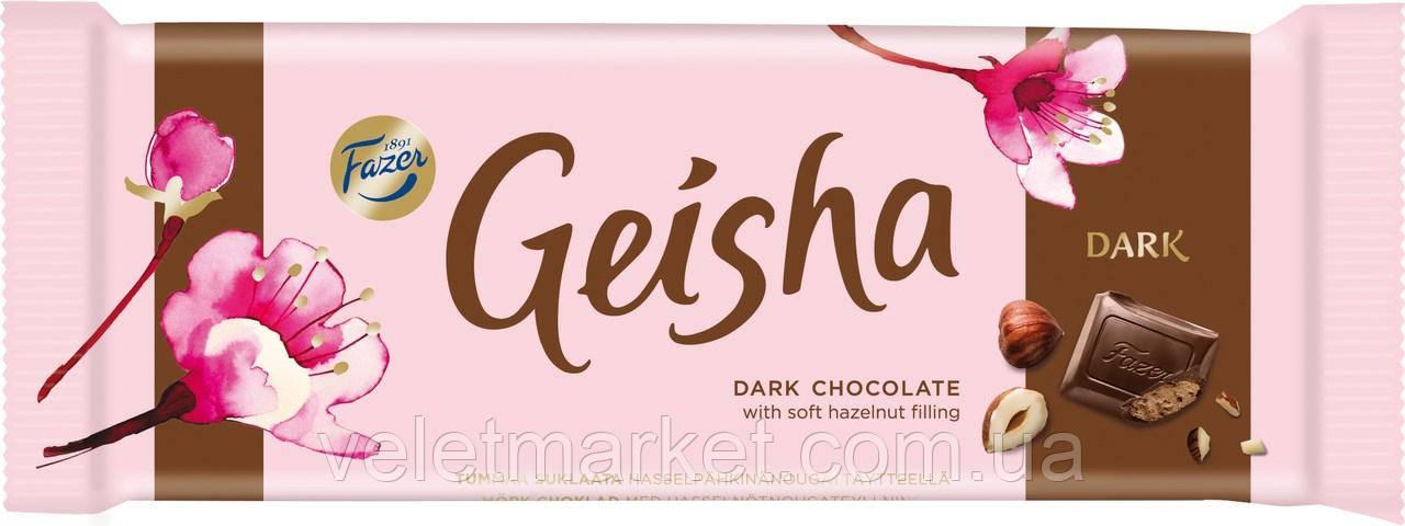 Шоколад Fazer Geisha темный с ореховой начинкой 100 г