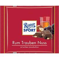 Шоколад Ritter Sport молочный с ромом орехом и изюмом 100 г