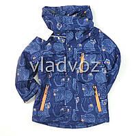Детская демисезонная куртка на мальчика темно синяя 4-5 лет