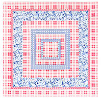 Фруктовый аромат 781-1, павлопосадская скатерть хлопковая квадратная с подрубкой