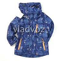 Детская демисезонная куртка на мальчика темно синяя 5-6 лет