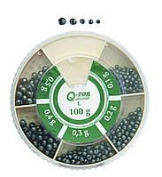 Набор грузил KZ-I. 100гр (0,1-0,5g) дробь