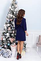 """Короткое приталенное платье-рубашка """"NORA"""" с поясом (большие размеры), фото 3"""