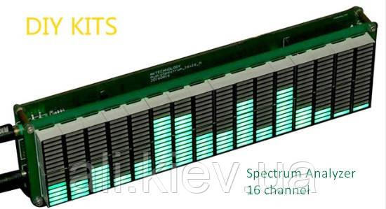Спектро-анализатор звука 16 полосный, много режимный АРУ . Комплект DIY (сделай сам)