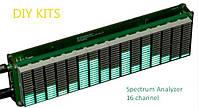 Спектро-анализатор звука 16 полосный, много режимный АРУ . Комплект DIY (сделай сам), фото 1