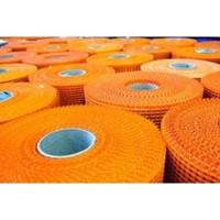 Сетка фасадная A-160 5*5мм стеклотканевая оранжевая 50м2