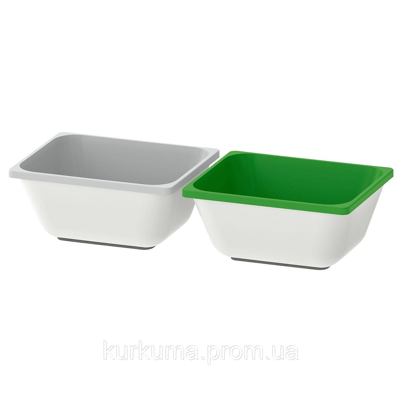 IKEA VARIERA Коробка, зеленый, серый  (903.351.07)
