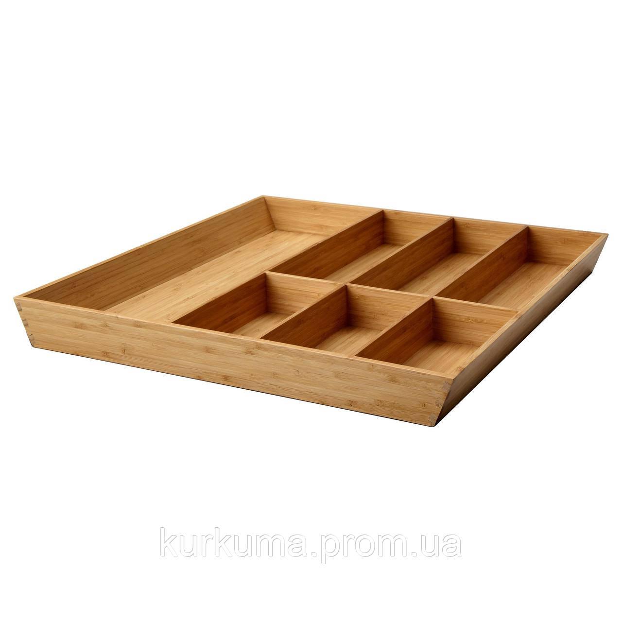 IKEA VARIERA Лоток для столовых приборов, бамбук  (402.046.94)