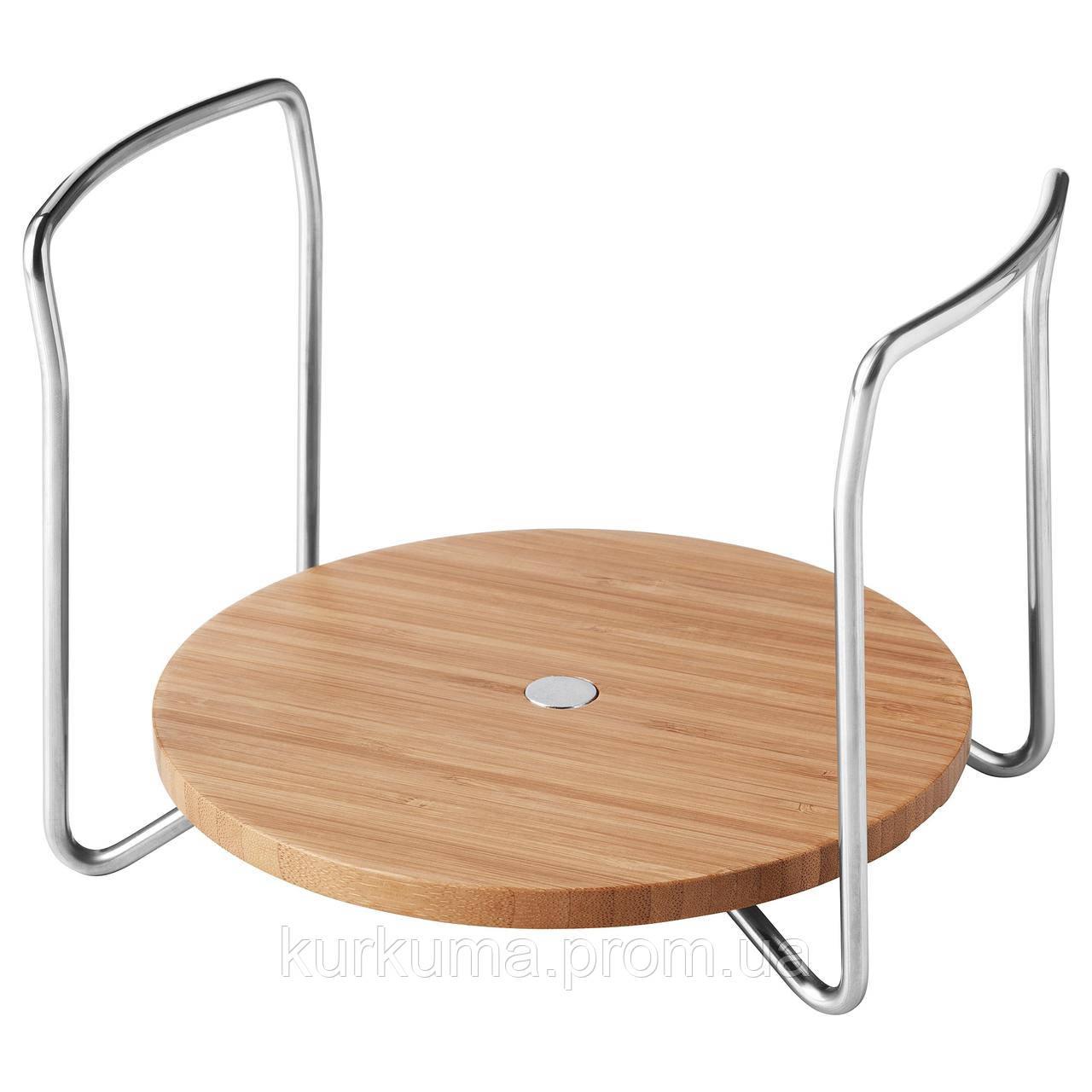 IKEA VARIERA Держатель для тарелок, бамбук  (303.846.95)