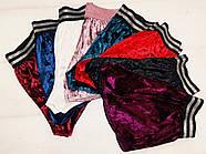 Бордовые велюровые шорты, фото 3