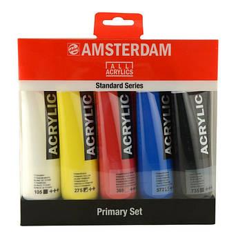 Набор акриловых красок, AMSTERDAM STANDARD, PRIMARY SET, 5*120 мл, Royal Talens