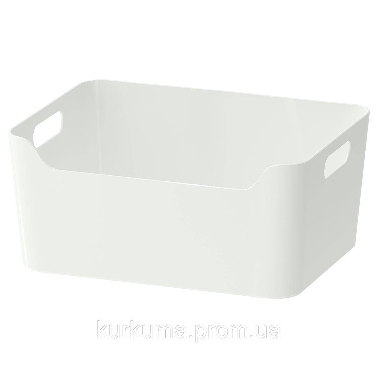 IKEA VARIERA Коробка, глянцевый белый  (701.772.55)