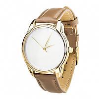 Часы Ziz Минимализм, ремешок серо-коричневый, золото и дополнительный ремешок SKL22-142870
