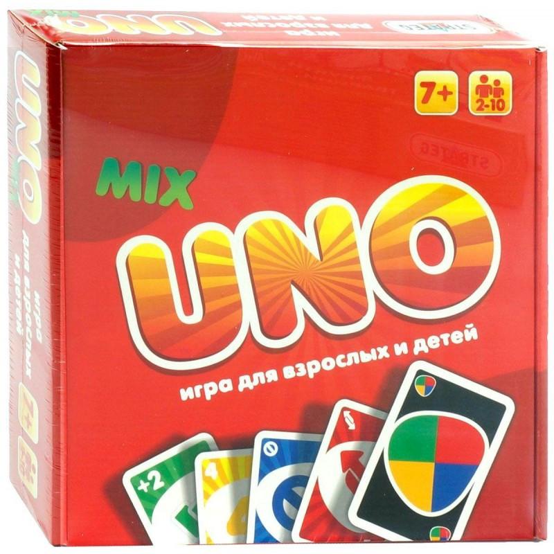 """Настільна гра """"UNO"""" 40256 Люкс 2в1, карти, інструмент, українською, в коробці 26*25*5 см"""
