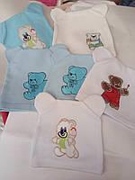 Весенне-осенние шапочки для новорожденных от 0 до 6 месяцев.