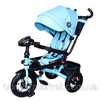 Велосипед Mini Trike T400 джинс голубой