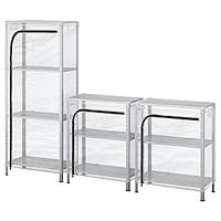IKEA HYLLIS Стеллаж, прозрачный  (392.917.48)