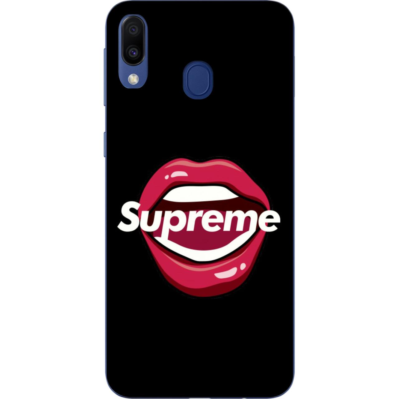 Силиконовый чехол для Samsung Galaxy M20 с картинкой Supreme