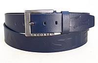 Мужской кожаный ремень Lacoste, фото 1