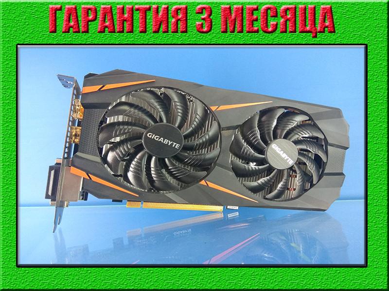 Видеокарта PCI-E NVIDIA Gigabyte GTX1060 (6GB/GDDR5/192bit) GV-N1060WF2OC-6GD БУ