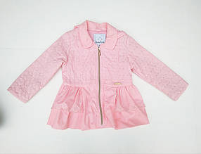 Ветровка Для Девочки Розовая И Темно Синяя Выстроченна Ромбами С Оборками Baby Band, Италия