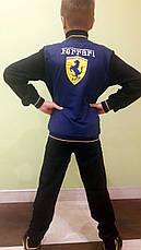 Подростковый спортивный костюм для мальчиков трикотажный Ferrari комбинированный, фото 3