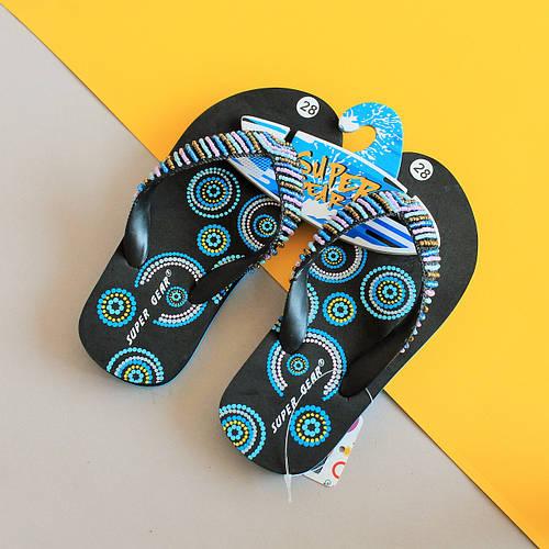 875afda24 Купить Пляжная детская обувь для девочки: шлепки, вьетнамки, сандалии,  кроксы Super Gear в Киеве | BonKids — Интернет-магазин